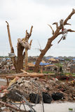 Damage after an F5 tore through Moore Oklahoma Stock Images