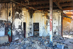 Damage Factory Fire Royalty Free Stock Photos