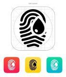 Damage fingerprint icon. Vector illustration Stock Photography