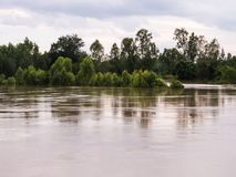 The damage from the floods. Royalty Free Stock Photography