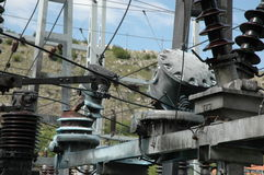 Damage on high voltage substation Royalty Free Stock Photography