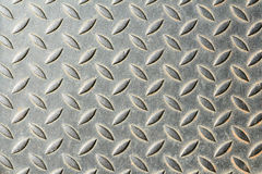 The damage metal diamond plate Stock Photo