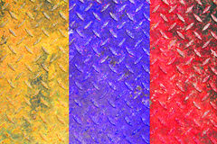 The damage metal diamond plate colorful Stock Images