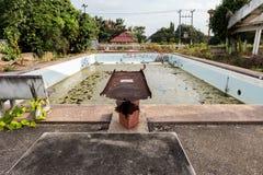 Damage old swimming pool Royalty Free Stock Photo