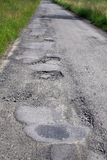 Damage road. After winter Royalty Free Stock Image