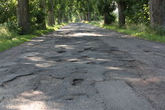 Damage road Royalty Free Stock Photos