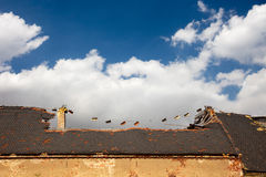Damage roof Royalty Free Stock Images