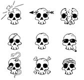 Damage Skulls Royalty Free Stock Photos