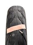 Damage tire Stock Image