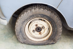 Damage tire Royalty Free Stock Image