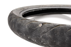 Damage tire Stock Image