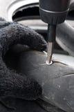 Damage tire Stock Photo