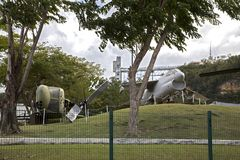 Damage to aircraft inside Luis A. Ferre Science park after hurricane Maria Bayamon PR. BAYAMON/PUERTO RICO - February 26, 2019: Damage to aircraft inside Luis A stock images