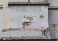 Damage to Brickwork on Tate Britain Stock Images