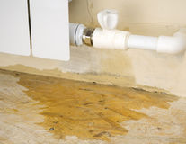 Damage to the heating system in a private home. Stock Photography