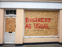 Damage To The Shops In Greenwich. The Damage To The Shops In Greenwich Stock Photography