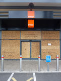 Damage To The Shops In Tottenham Hale Retail Park. The Damage To The Shops In Tottenham Hale Retail Park Royalty Free Stock Image