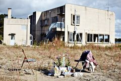 Damage from Tohoku Earthquake and Tsunami Stock Photos