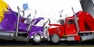 Damage two lorries Stock Image