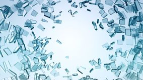 Damage and wreck: Pieces of broken glass. Large resolution vector illustration