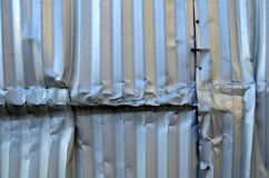 Damaged Aluminum Royalty Free Stock Photos
