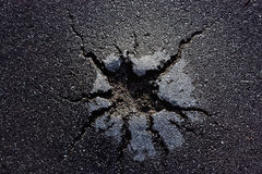Damaged asphalt Royalty Free Stock Images