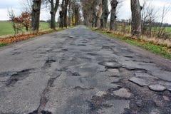 Damaged asphalt Royalty Free Stock Images