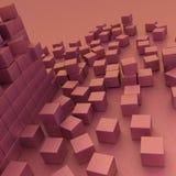 Damaged assembling of blocks Royalty Free Stock Image