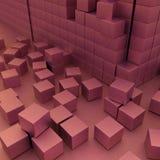 Damaged assembling of blocks Stock Photo