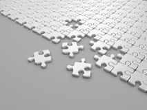 Damaged assembling of puzzle. 3D Illustration Royalty Free Stock Images