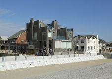 Damaged beach house in devastated area one year after Hurricane Sandy Royalty Free Stock Photography