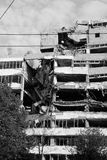 Damaged Belgrade, Serbia Royalty Free Stock Photo