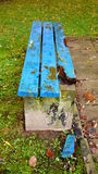 Damaged bench Stock Photography
