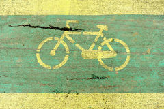 Damaged bicycle lane Royalty Free Stock Images