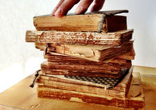 Damaged books Royalty Free Stock Images