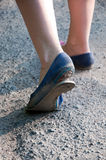 Damaged bottom of shoe Stock Photography