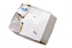 Damaged Box/Parcel/Package Stock Image