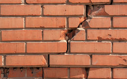 Damaged brick wall Royalty Free Stock Photos