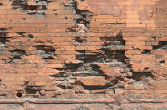 Damaged Brick Wall Stock Photography