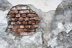 Damaged brick wall Stock Photos