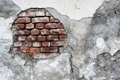 Damaged brick wall Stock Photos