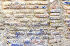 Damaged brick wall Royalty Free Stock Image