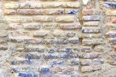 Damaged brick wall Royalty Free Stock Image