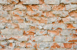 Damaged brick wall texture Stock Image