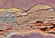 Damaged brick wall Stock Image