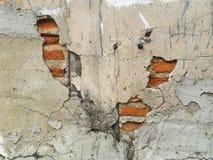 Damaged brick walls cracked Stock Photos