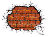Damaged brickwall vector illustration