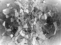 Damaged or broken glass on black. 3d rendering 3d illustration Stock Photography