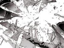 Damaged or broken glass over white. Damaged or broken glass on white background Royalty Free Stock Image