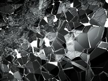 Damaged or broken glass on white. 3d rendering 3d illustration Royalty Free Stock Image